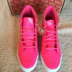 ecead3cea12698 Vans Shoes - NWT Vans Sk8-Hi Slim Neon Pink Leather